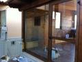 Porta finestra in legno alluminio